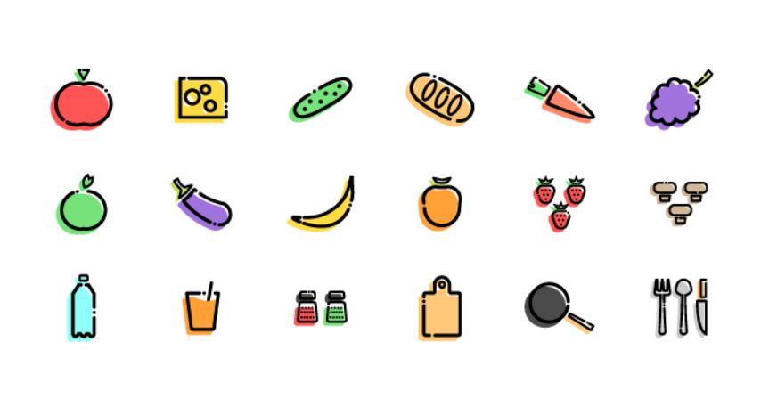 Slapdash Kitchen Icon Set