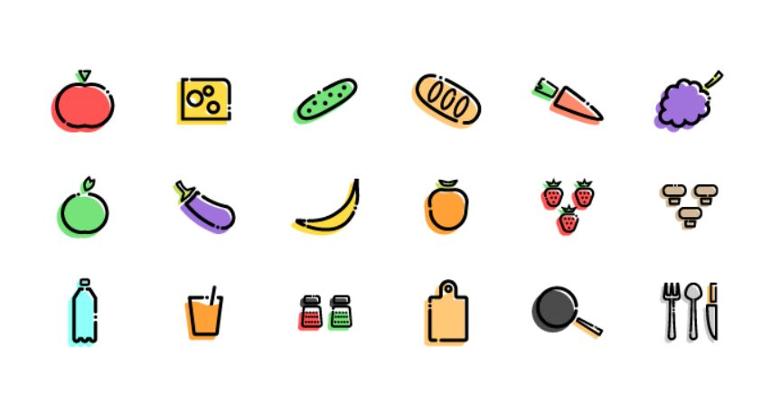 Slapdash Kitchen Icon Set