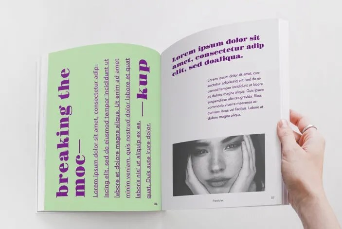 Opend Magazine PSD Mockup