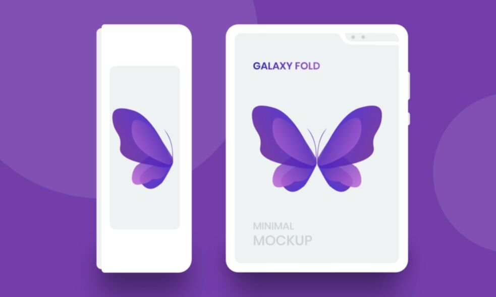 5 Best Samsung Galaxy Fold Mockups To Showcase Your App Designs