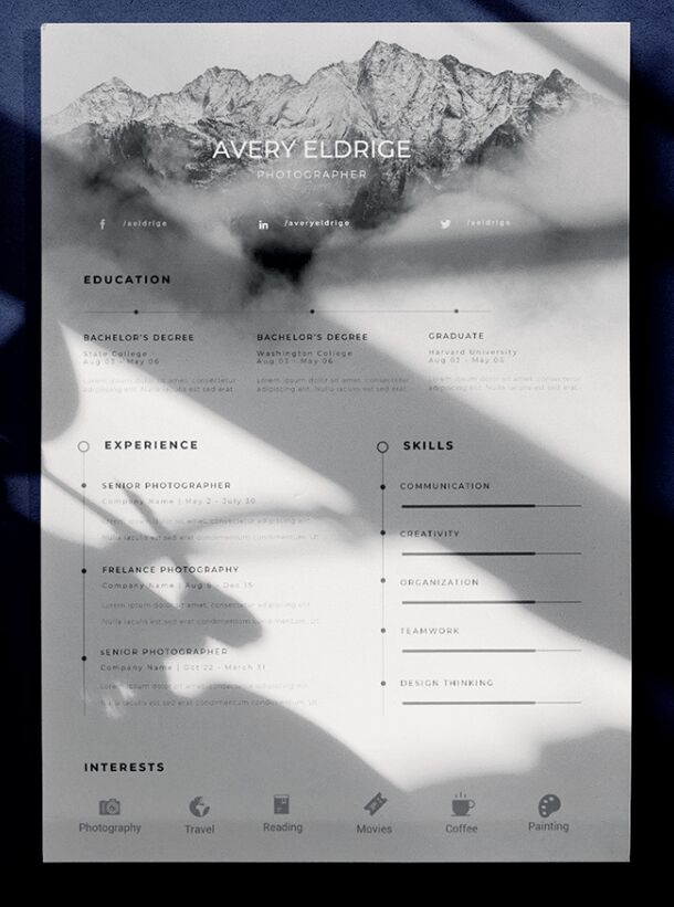 FREE Beautiful Creative Resume Template