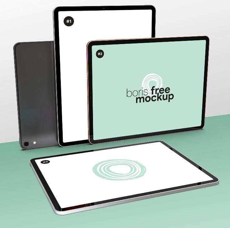 Four iPad Pro Mockup