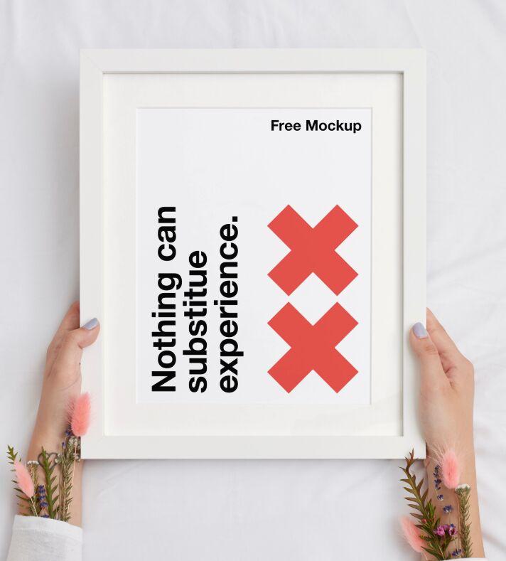 Frame Poster Mockup Hands