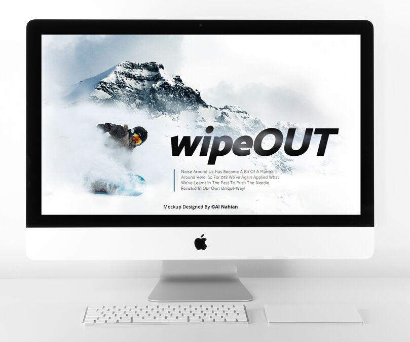 Pretty Clean iMac Mockup PSD