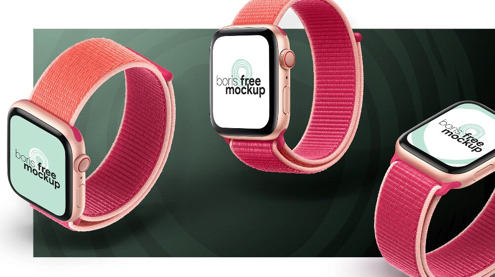 Three views Apple Watch Series 5 Mockup
