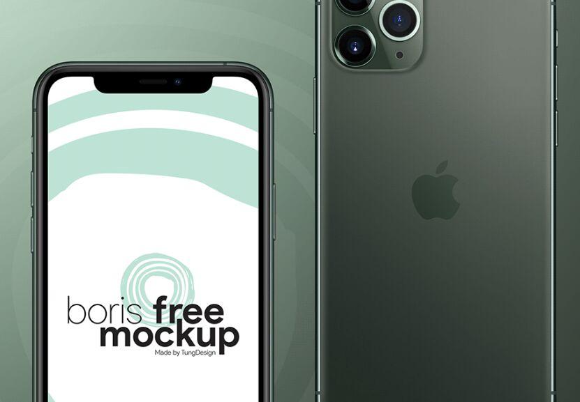 iPhone 11 Pro Max Free Mockup PSD