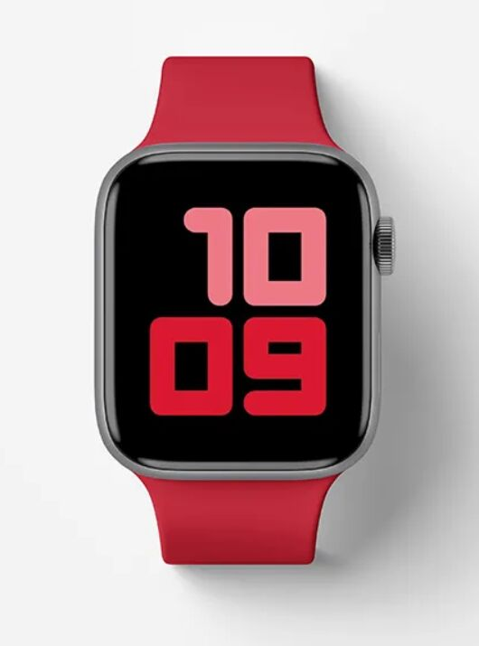 Top View Apple Watch Series 5 Mockup
