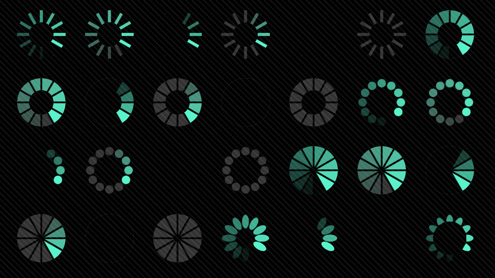 Houdini-animated Single Element Spinners