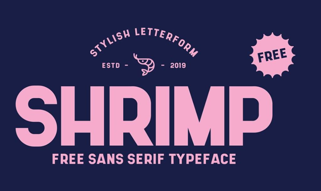 SHRIMP Stylish Sans Serif Typeface