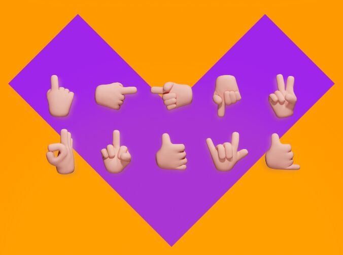 3D Hand Icons