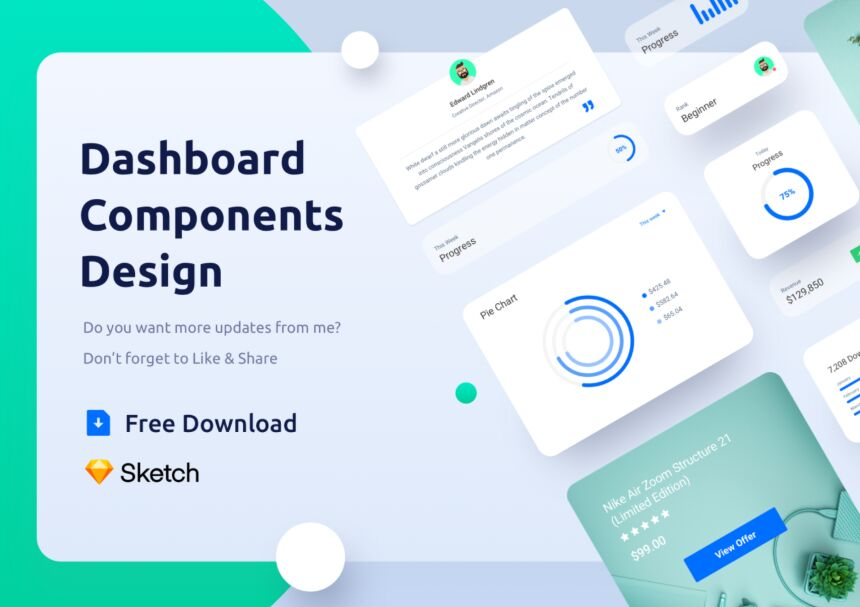 Dashboard Components Design Sketch