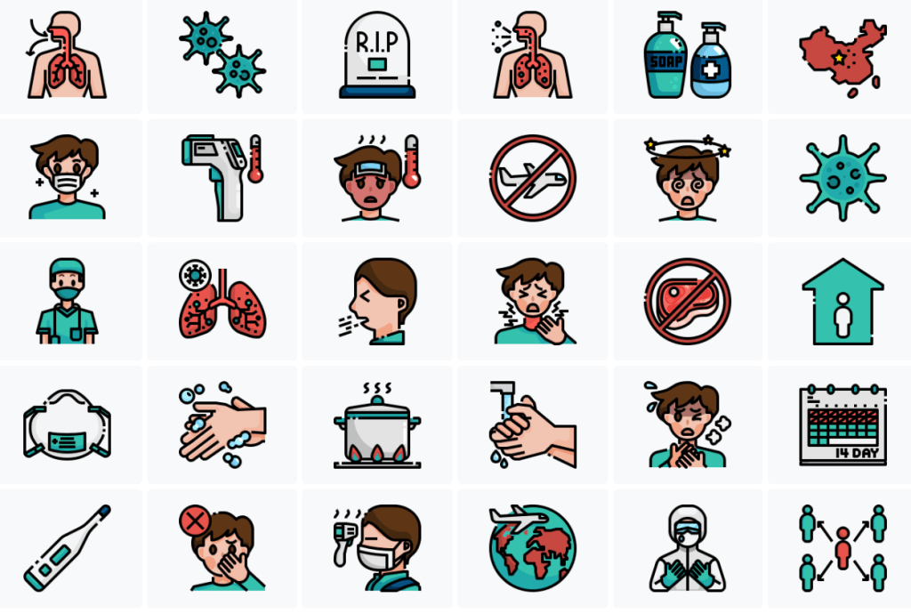 30 COVID-19 Vector (SVG & PNG) Icons