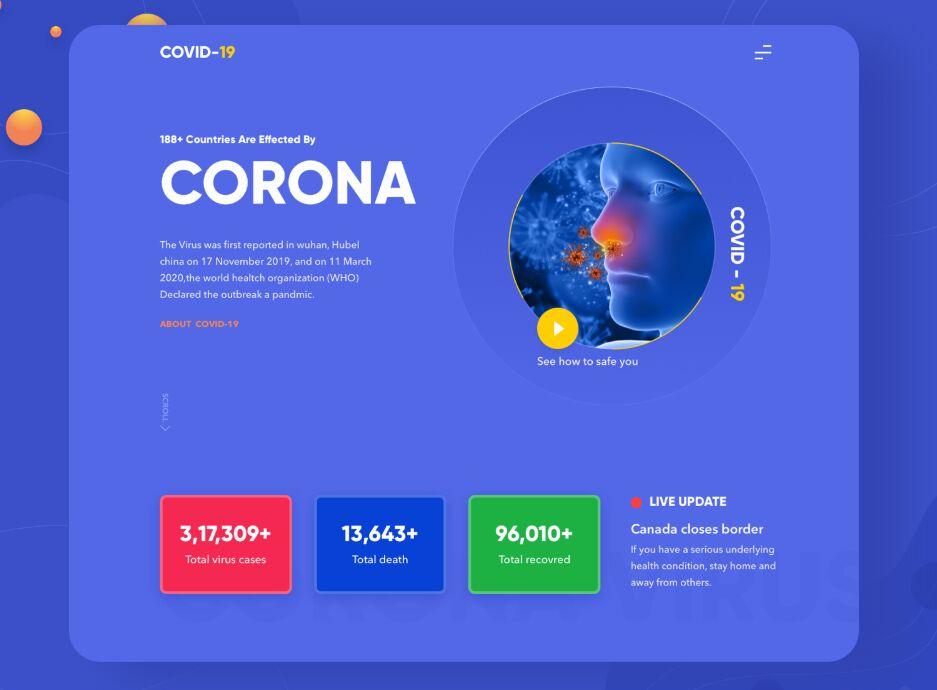 Corona (Covid 19) Landing Page Template