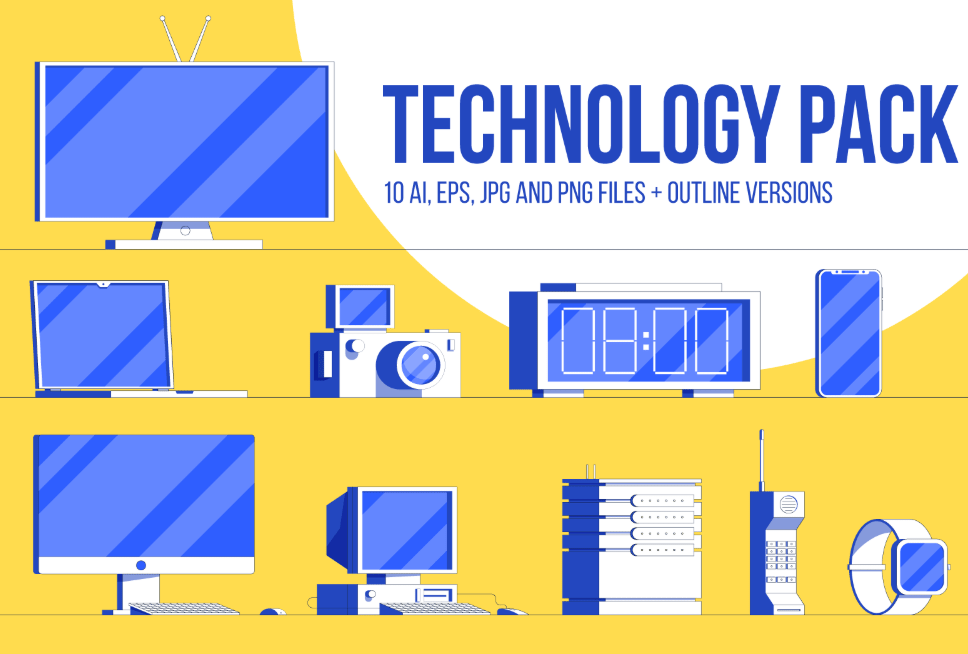 Free Technology Pack illustrations