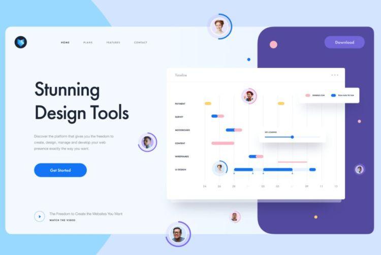 Stunning Design Tool Landing Page