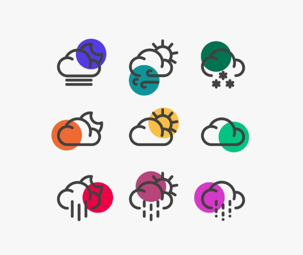35 Weather Vector Icons