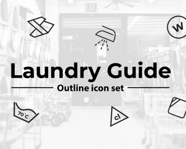 49 Laundry Guide Outline Icons Featured