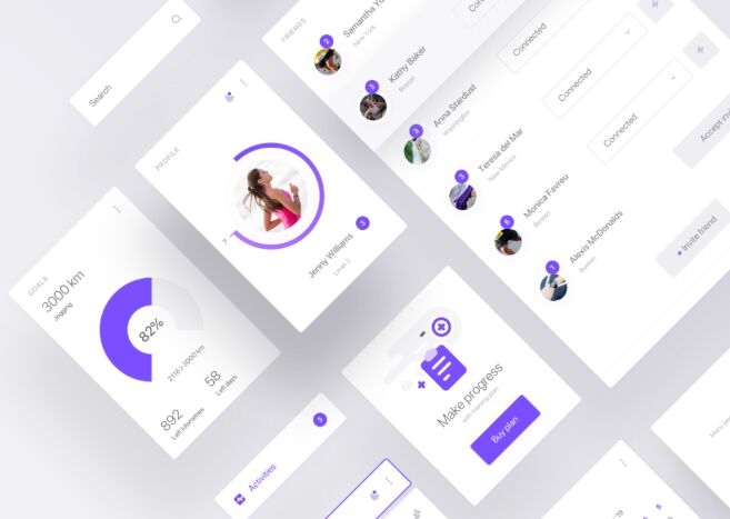 Fitness App UI Kit Sketch