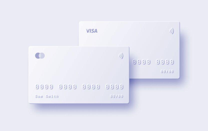 Minimal Mastercard & Visa Template For Figma