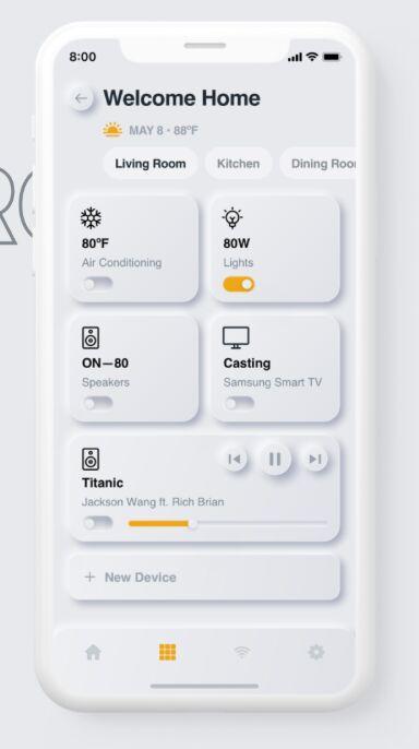 Neumorphism Smarthome Mobile UI