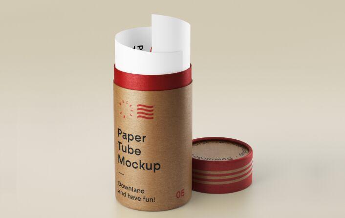 Open Paper Tube Mockup