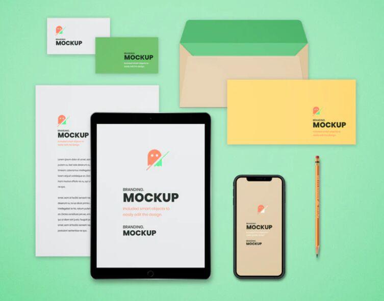 Top View Branding Mockup