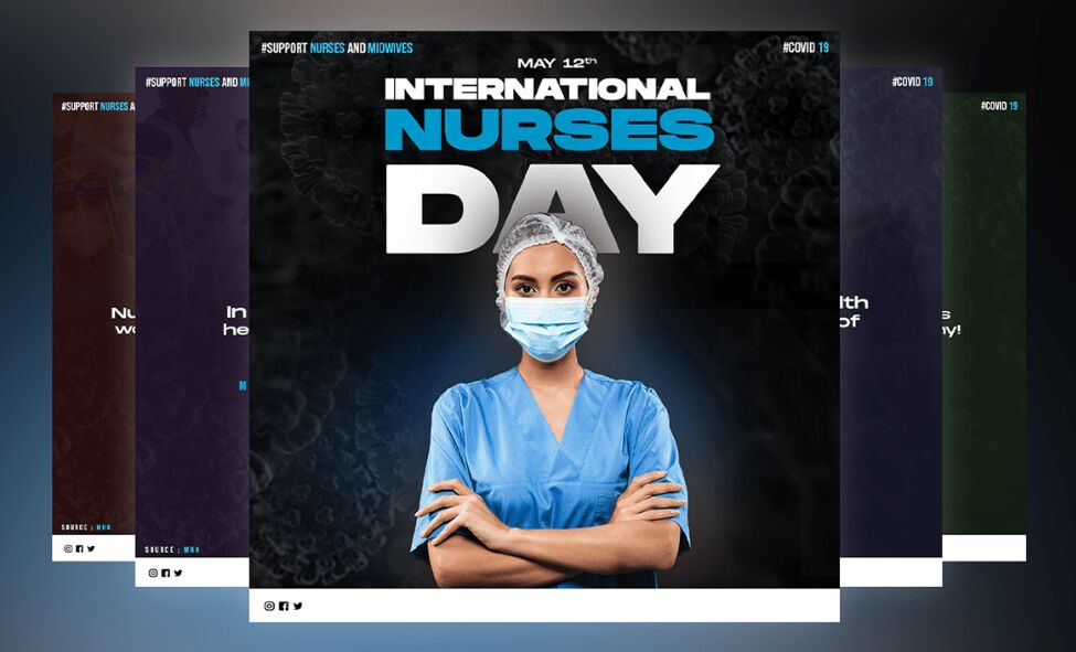 2 International Nurses Day Mockups For Photoshop