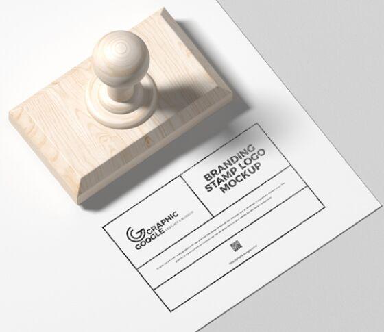 Branding Stamp Logo Mockup