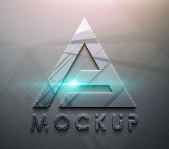 Glossy Style Logo PSD Mockup