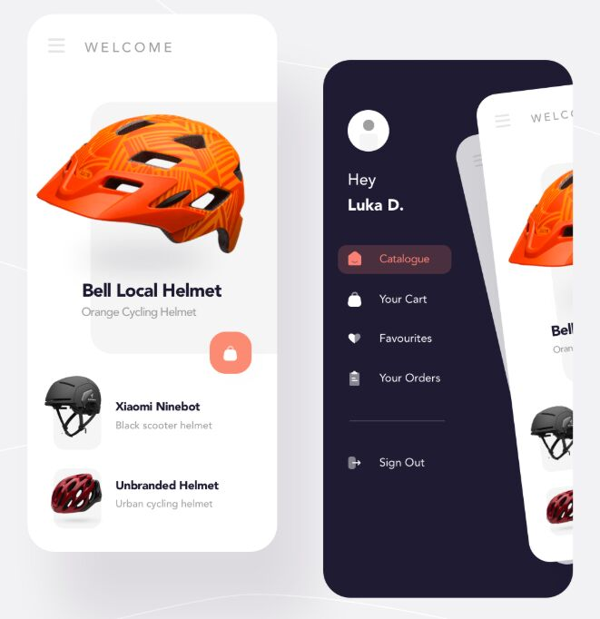 Helmet Shopping App