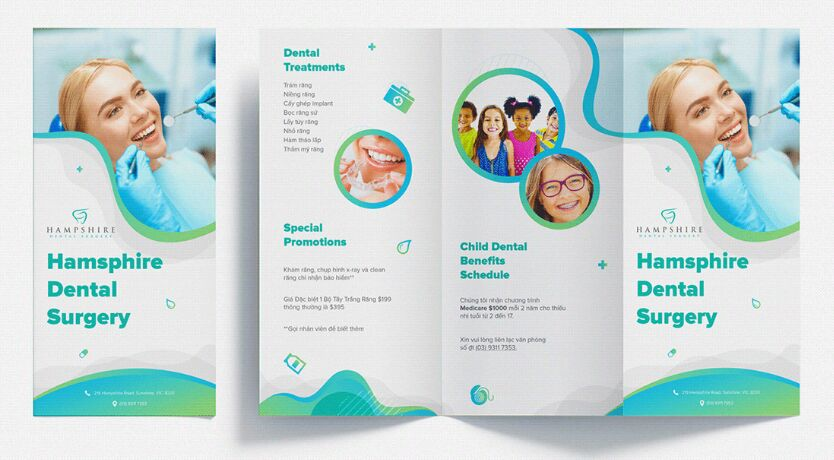 Realistic Trifold Mockup Collections