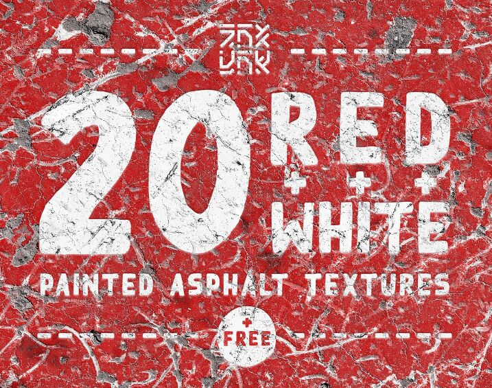 White Painted Asphalt Textures