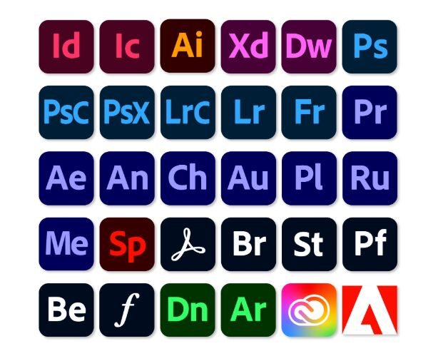 30 Adobe Icons 2020
