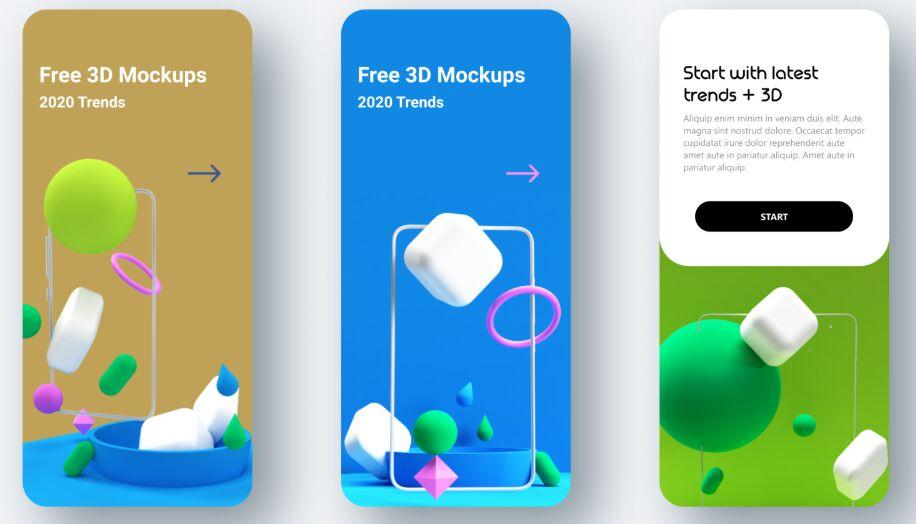 3D Models For App Design