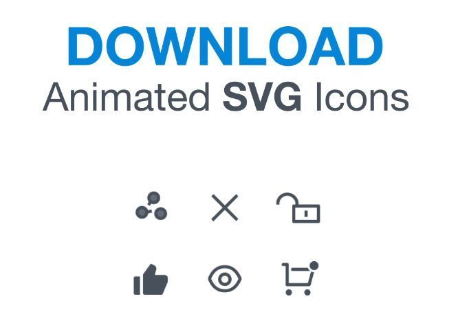 6 Animated SVG Icons