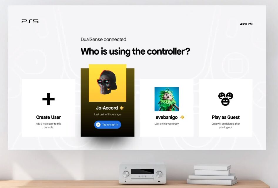 PlayStation 5 Concept UI For inDesign