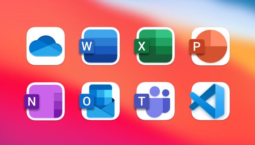 macOS Big Sur Microsoft Icons
