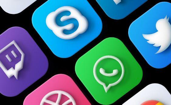 30 Neumorphism MacOS Big Sur Social Icons