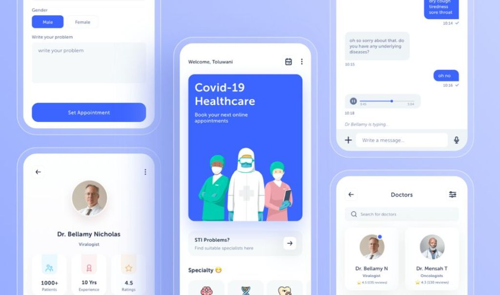 Doctors Appointment Free UI Kit