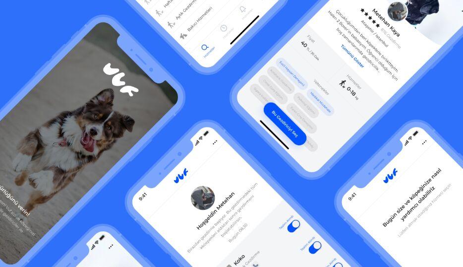Dog Walking App UI Design