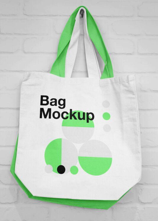 Hanging Canvas Bag Mockup