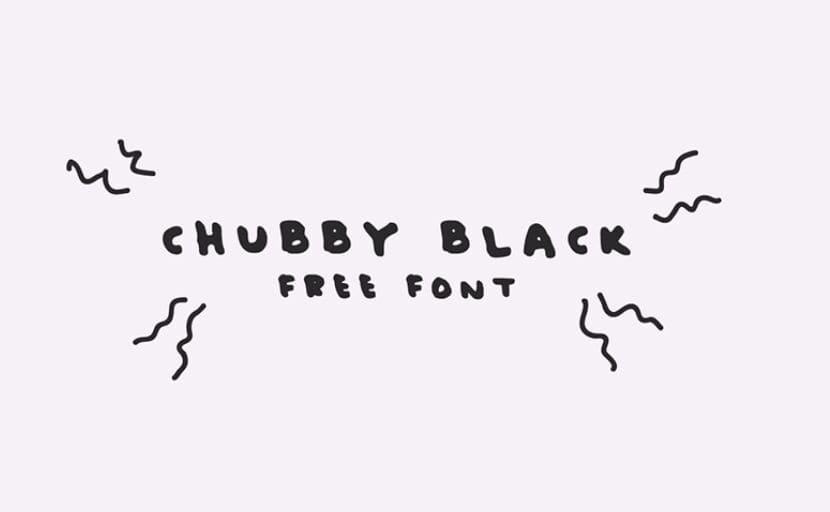 Chubby Black Free Font