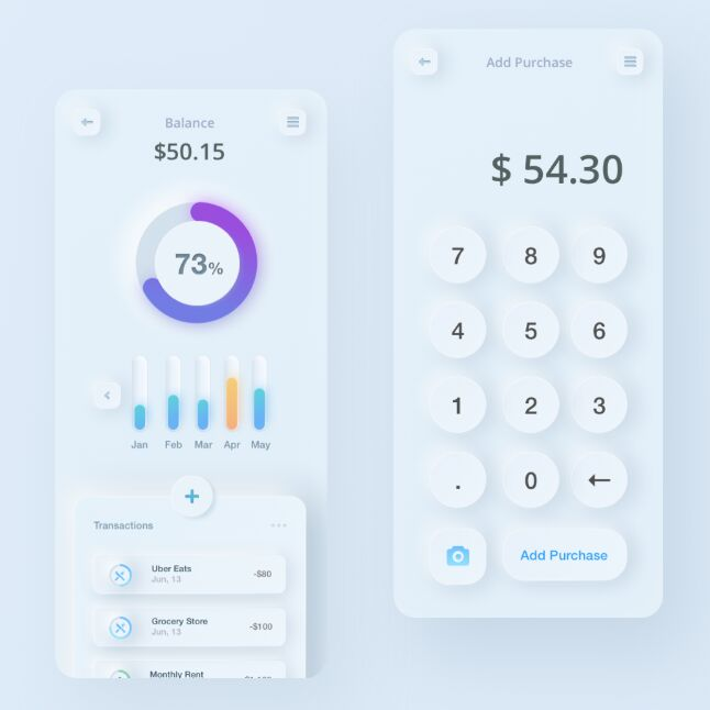 Finance App & Calculator Design