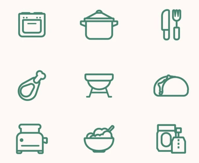 Food Vector Line Icon Set