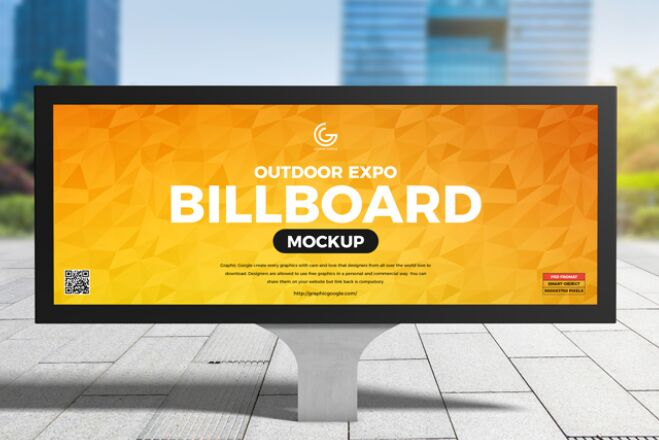Free Outdoor Expo Billboard Mockup