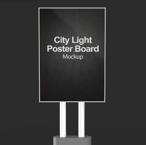 City Light Poster Board Mockup