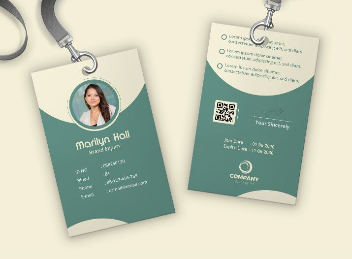 Free ID CARD Template (AI)