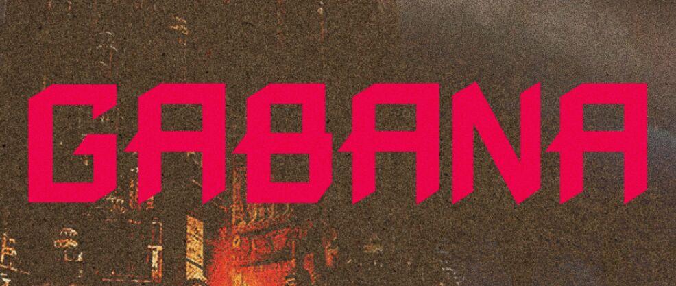 Gabana Bold and Edgy Typeface