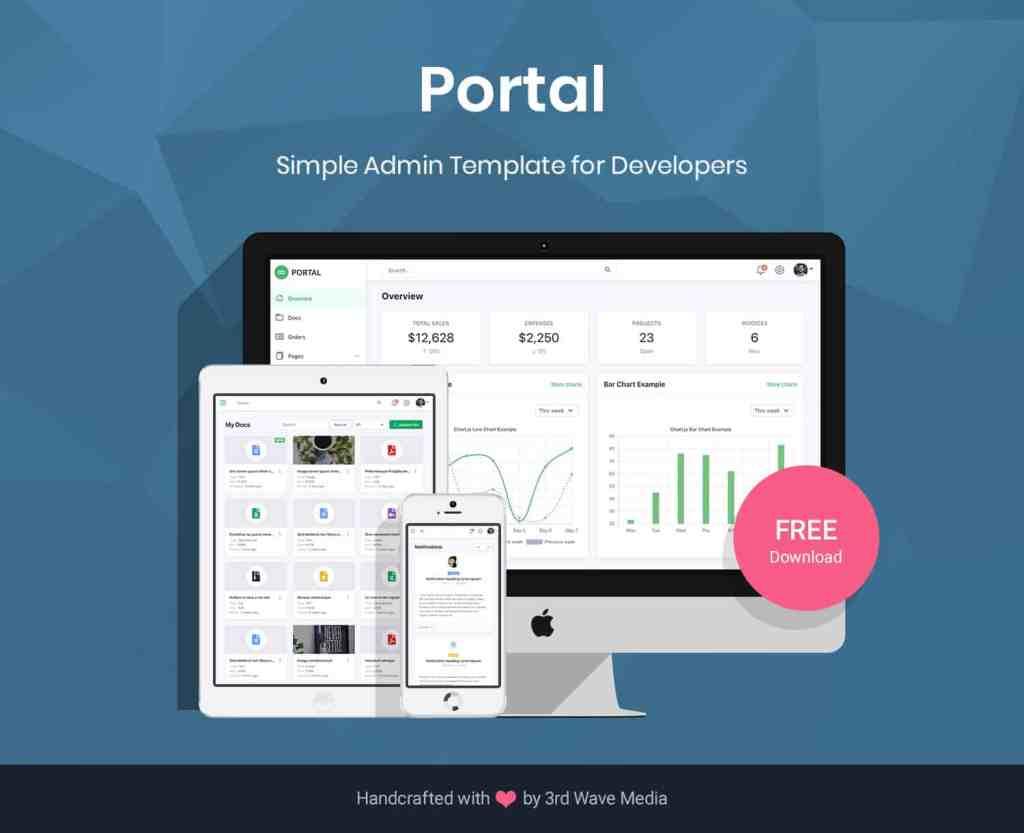 Portal - Free Bootstrap 5 Admin Dashboard Template