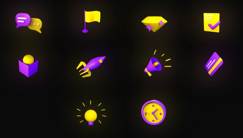 3D Icons Sketch